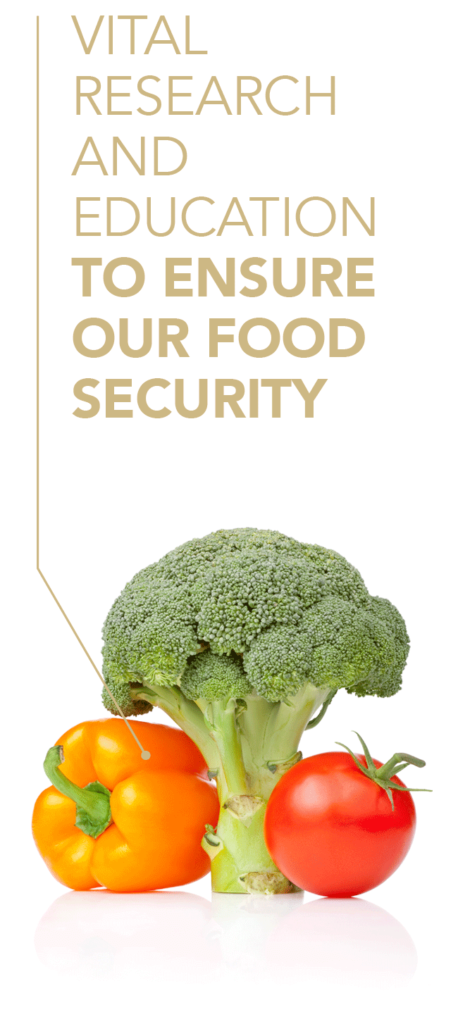 Vital research and education to ensure our food security.