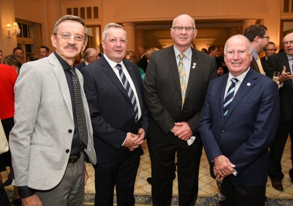 Prof. Ryszard Maleszka (ANU), Anton Pemmer, Steve Hill, Minister Mick Gentleman ©Lyndal Curtis