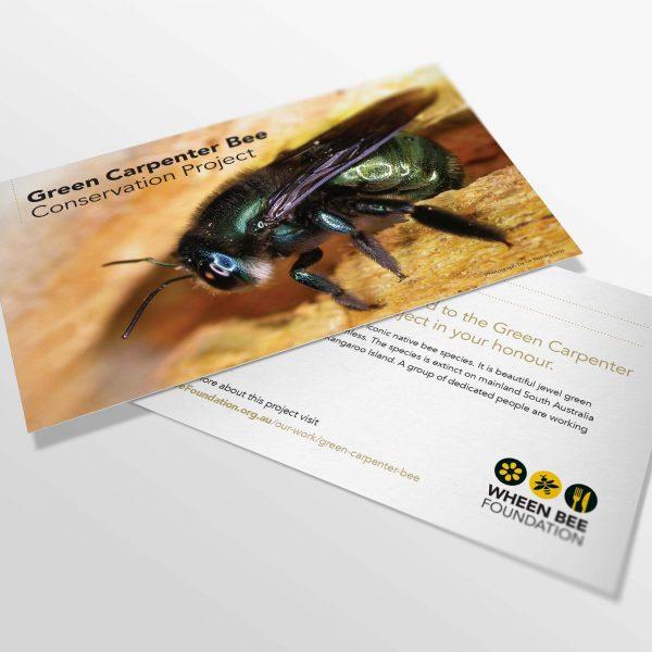 Green Carpenter Bee Gift Card